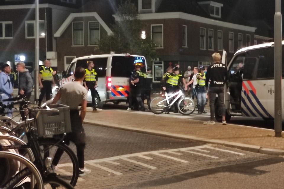 Veel politie in het uitgaanscentrum van Katwijk.