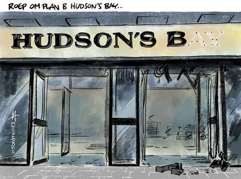 Cartoon: Roep om plan B voor Hudson's Bay