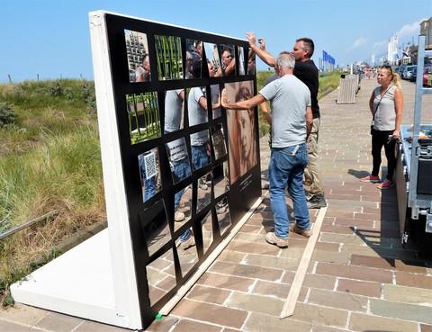 Kunstwerken van spiegels op Noordwijkse boulevard