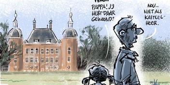 Cartoon: Wonen in en rond kasteel Endegeest moeilijk in nieuwe plannen