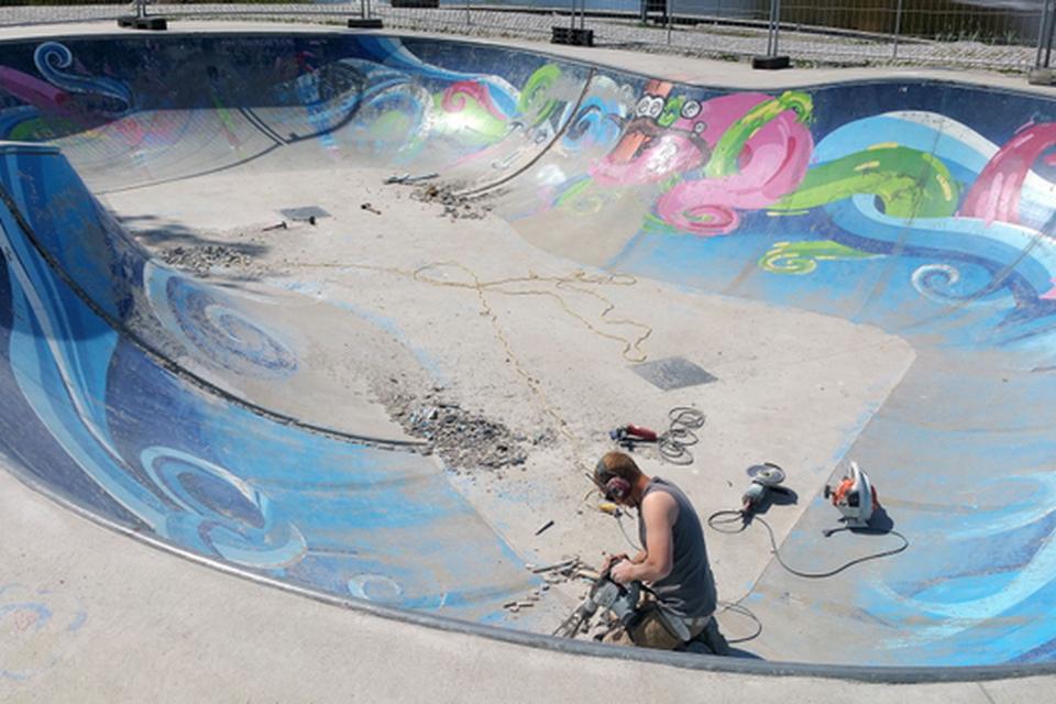 De skatekuil in het Park van Noord moest al diverse keren worden gerenoveerd.