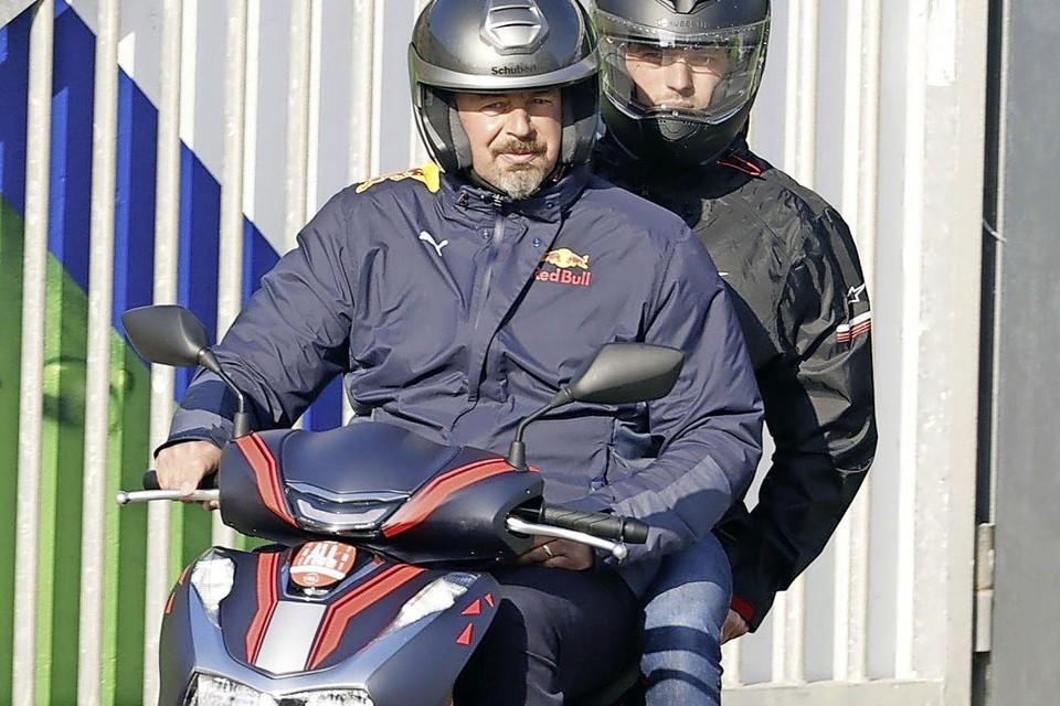 Max Verstappen (Red Bull Racing) voorafgaand aan de eerste vrije training op het circuit van Zandvoort.