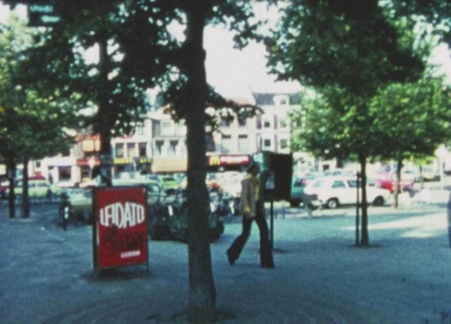 Reclamebord voor Leidato in Leiden.