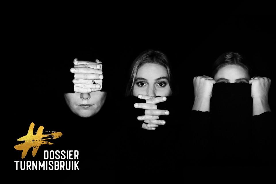 Het campagnebeeld van de petitie 'Stop misbruik in de turnsport'.