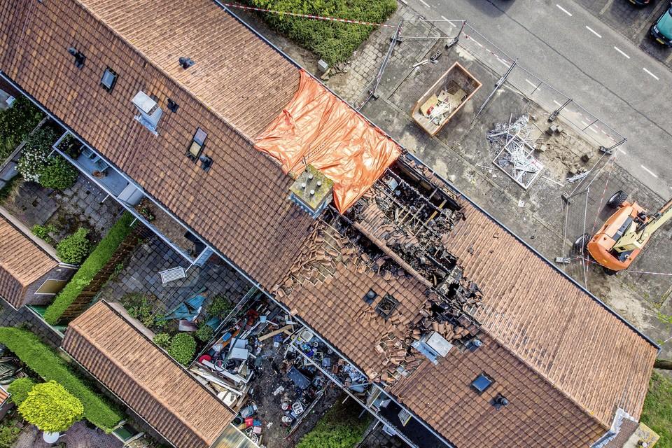 De dag na de brand in de Westerstraat.