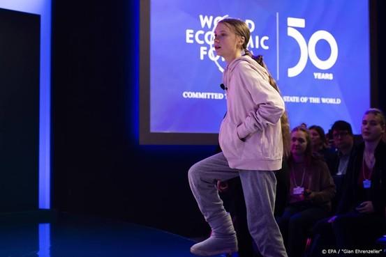 Thunberg in Davos: vrijwel niets gedaan tegen klimaatverandering