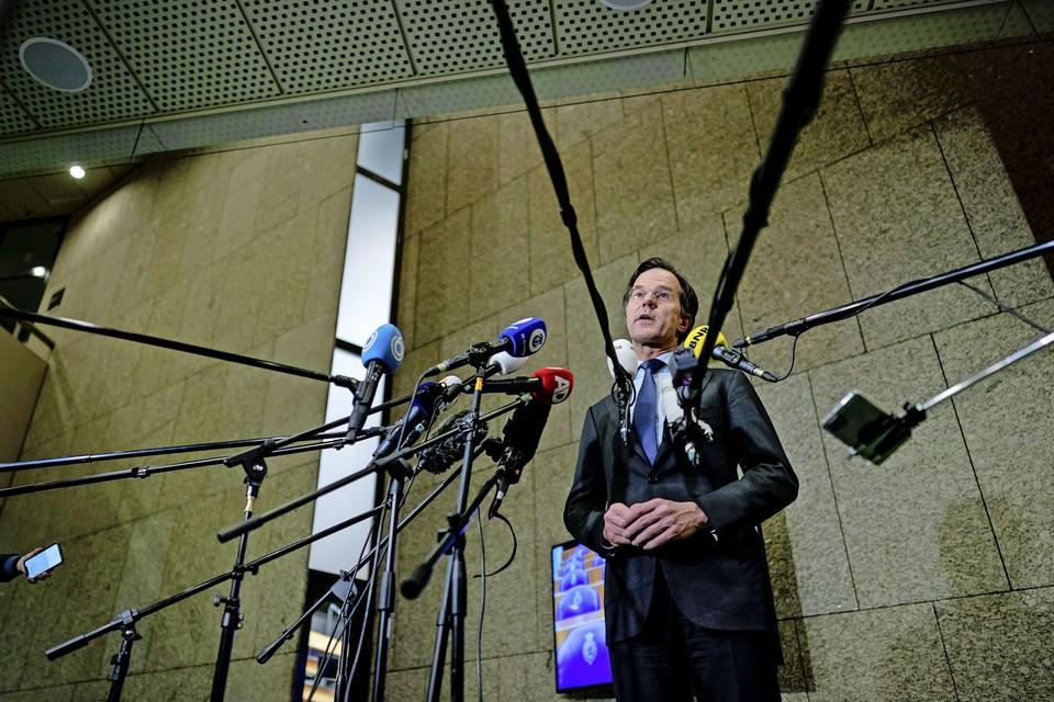 VVD-lijsttrekker Mark Rutte reageert in de Tweede Kamer op de uitslagen voor de Tweede Kamerverkiezingen.