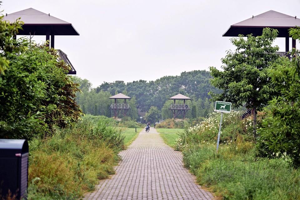 Park Matilo in Leiden, een reconstructie van een verdedigingsfort dat onderdeel was van de Romeinse Limes.