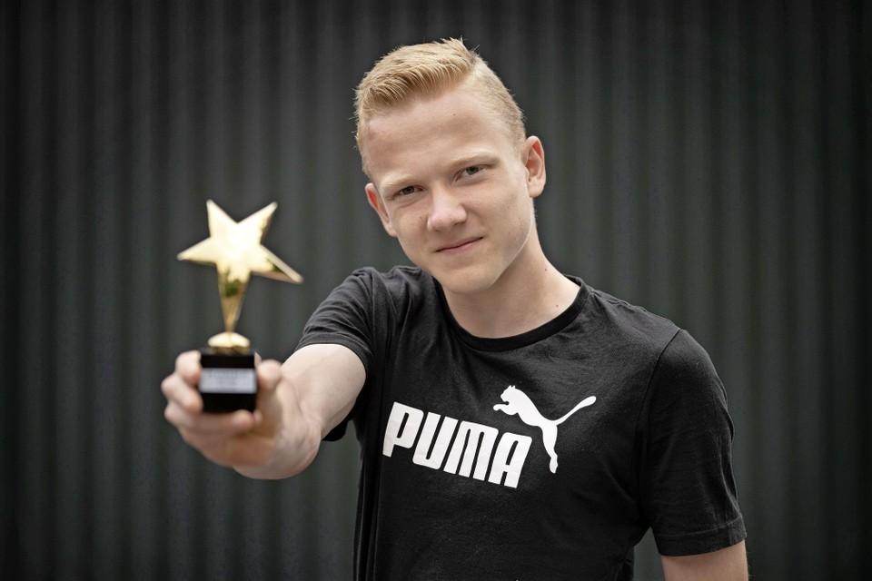 Rolstoeltennisser Robin Groenewoud won gisteren in Leuven in België het internationaal tennistoernooi Flanders 25.
