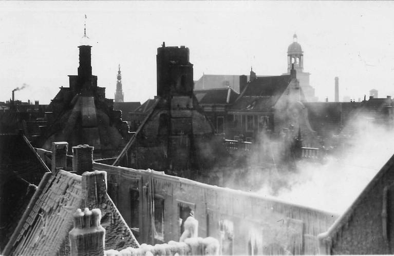 Negentig jaar geleden ging het stadhuis van Leiden in vlammen op