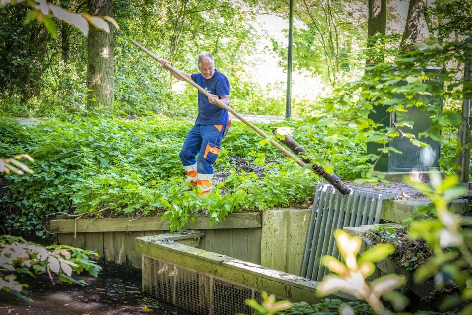 Johan Kieft wekelijks op maandag z'n ronde door de Leidse Hout, zomer en winter.