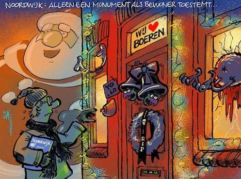 Cartoon: Bewoner krijgt veto over monument