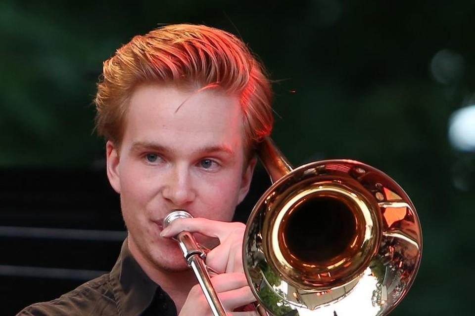 Trombonist Maarten Combrink.
