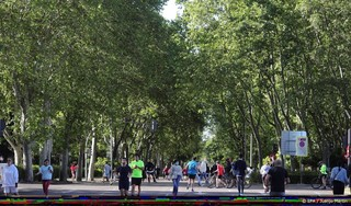 El Retiro en Paseo del Prado in Madrid op werelderfgoedlijst