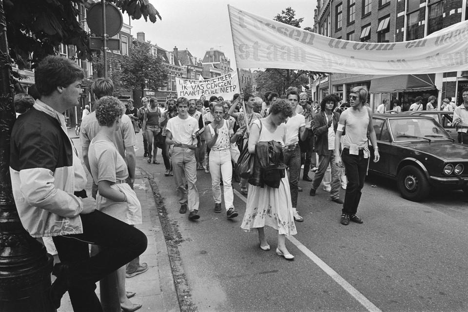 Demonstratie in Leiden.