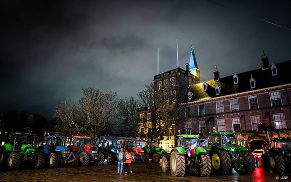 Boeren weer weg bij Binnenhof