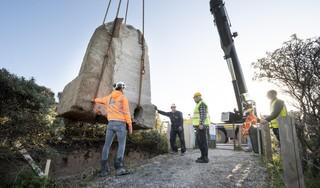 Omhooggetakeld stuk Duitse verdedigingsmuur nieuw uithangbord in Noordwijk: 'Tot nu toe konden we Atlantikwall niet laten zien'