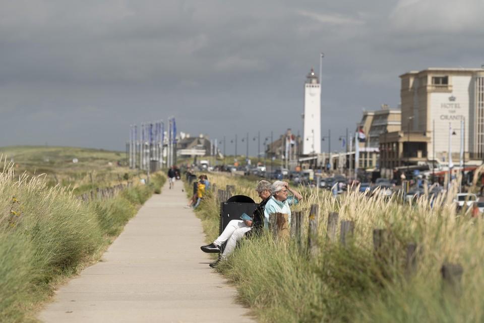 De Noordwijkse boulevard, waar vastgoedondernemer Ronnie van de Putte de ontwikkeling van prominente percelen jarenlang tegenhield.