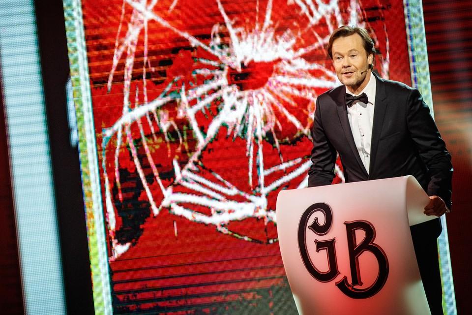 Gijs Staverman tijdens de opname van het programma 'The Roast' van Comedy Central.