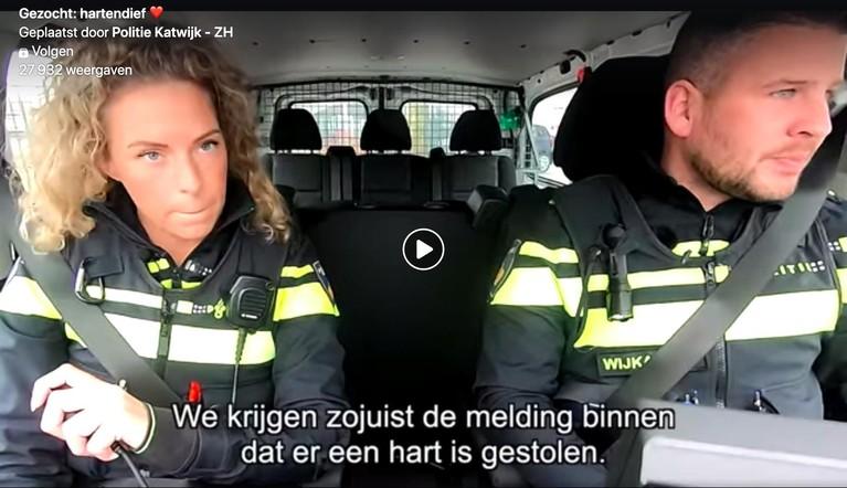 Politie Katwijk bezig met charmeoffensief en plugt een Valentijnsactie [video]