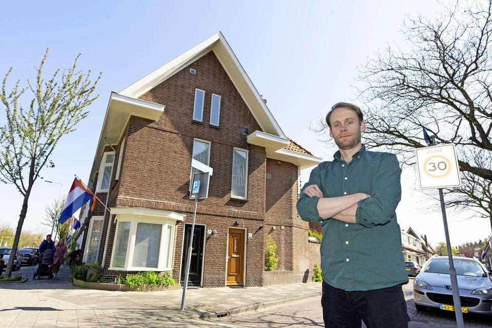 Gijs de Jong hoefde voor zijn woning op de Buys Ballotstraat in Leiden uiteindelijk niet over te bieden.