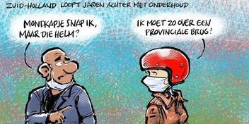 Cartoon: Grote achterstand met onderhoud bruggen in Zuid-Holland