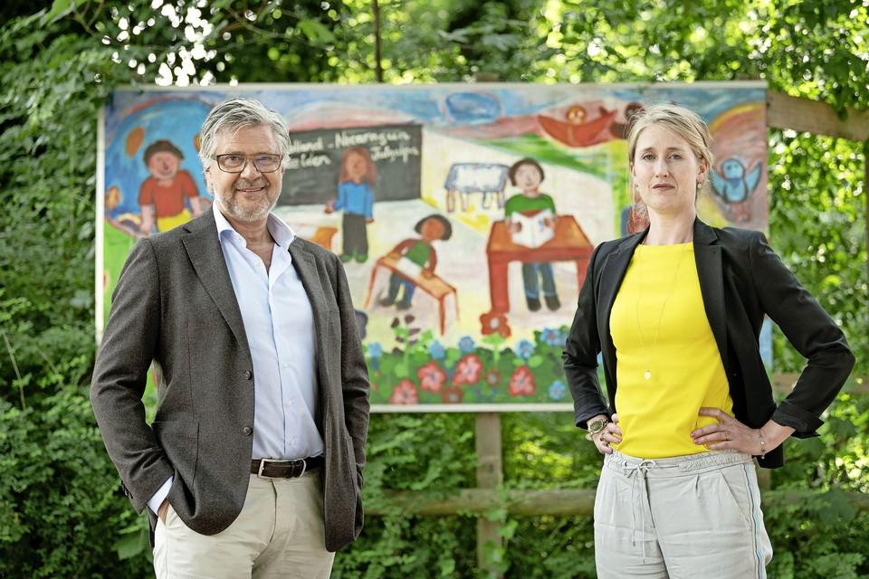 Schoolbestuurders Marton de Pinth en Eveline Driest maken zich zorgen over de toekomst.