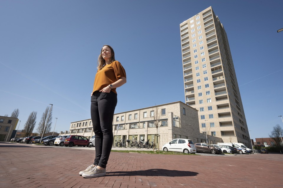 """Jojanneke Weijermars woont inmiddels in Leiderdorp, maar zocht eerst een huis in Leiden: ,,We moesten een motivatiebrief schrijven over waarom wij de nieuwe bewoners moesten worden, terwijl het huis al was gegund aan iemand anders."""""""