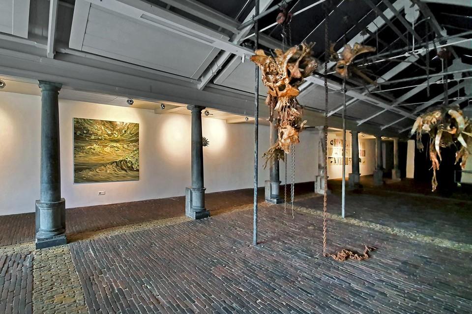 Werk van Leidse kunstenaars in de Vishal in Haarlem.