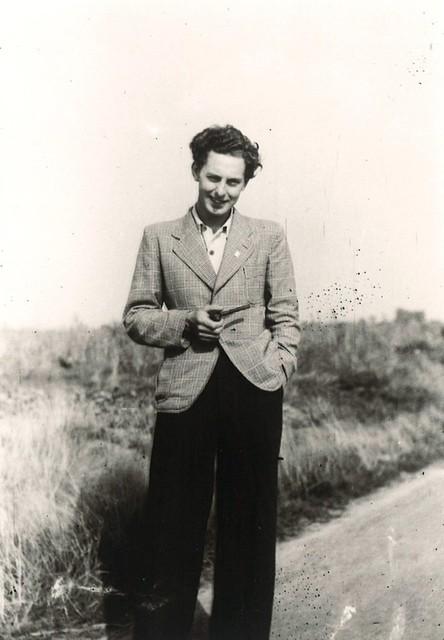 Nic Snaas op een foto uit de oorlogsjaren.