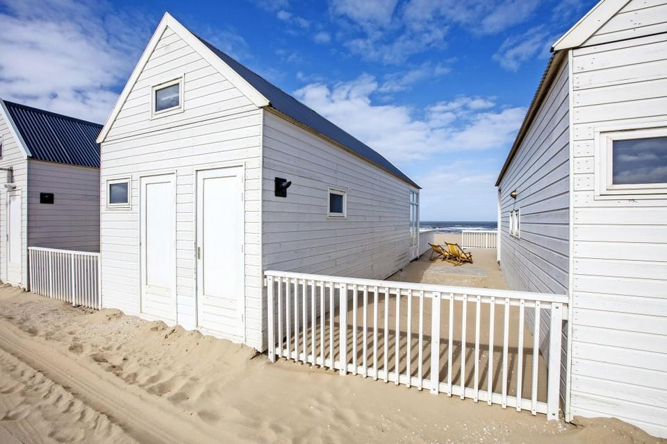 Strandhuisjes op het Katwijkse strand.