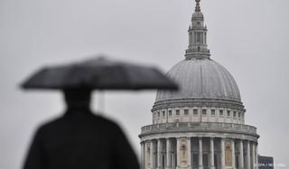 Wateroverlast in Londen door noodweer