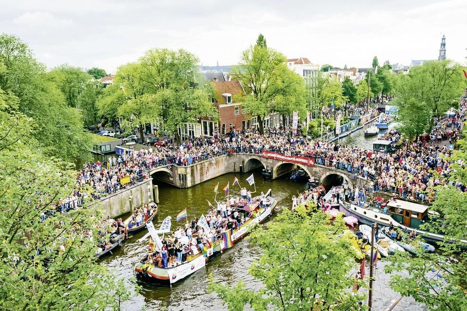 De Amsterdamse Canal Pride in 2019.